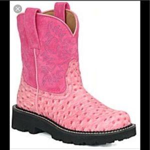 Ariat Fat Baby ostrich cowboy boots